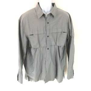 Nike ACG men's vented button front shirt gray XL